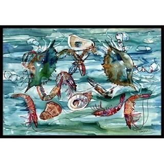 Carolines Treasures 8944MAT Crabs Shrimp And Oysters In Water Indoor & Outdoor Mat 18 x 27 in.