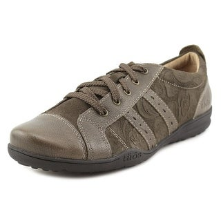 Taos Streamline Women Round Toe Leather Brown Sneakers
