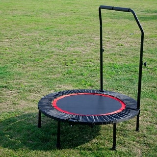 Link to Merax 40 Inch Mini Exercise Trampoline for Adults or Kids - Black Similar Items in Living Room Furniture