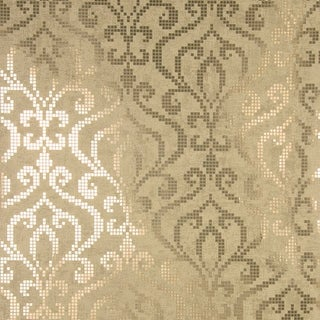 Brewster 2542-20753 Venus Brass Foil Mini Damask Wallpaper