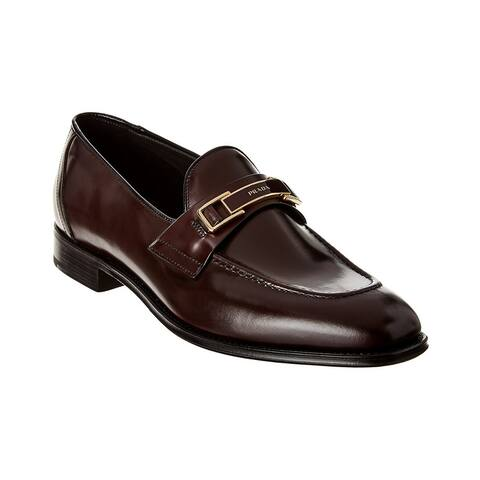 Prada Logo Leather Loafer