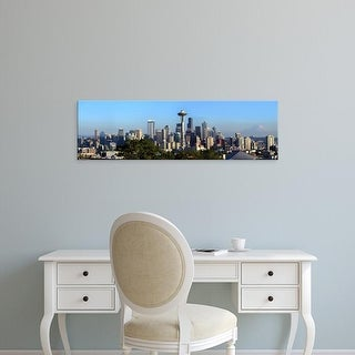 Easy Art Prints Panoramic Image 'Seattle city skyline and downtown financial building, King, Washington' Canvas Art