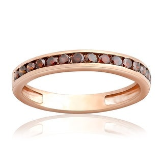 Fabulous 0.51Ct Channel Set Cognac Diamond Half Eternity Anniversary Ring