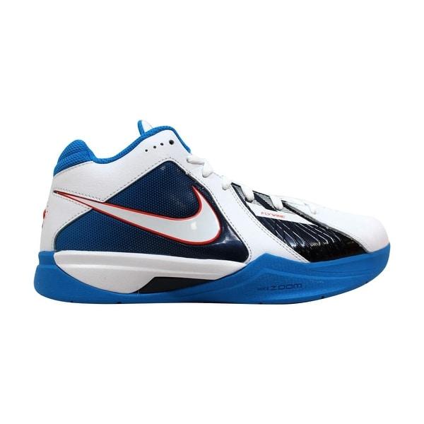 090eb8eb98e3 Shop Nike Zoom KD III 3 White White-Team Orange-Photo Blue Kevin ...