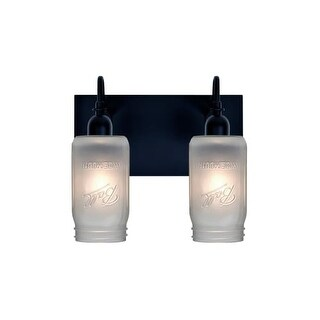 Besa Lighting 2WG-MILO4WF Milo 2 Light Vanity Strip with Frosted Glass Jar Shades