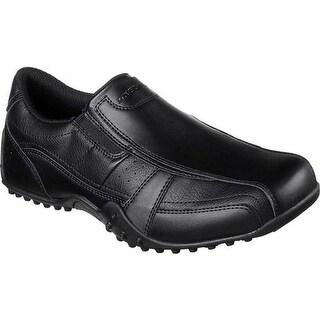 Skechers Men's Work Relaxed Fit Elston Kasari Slip Resistant Shoe Black