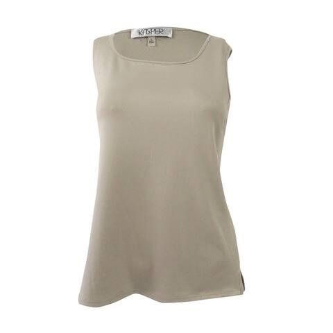 Kasper Women's Plus Size Square-Neck Shell Top - Clay
