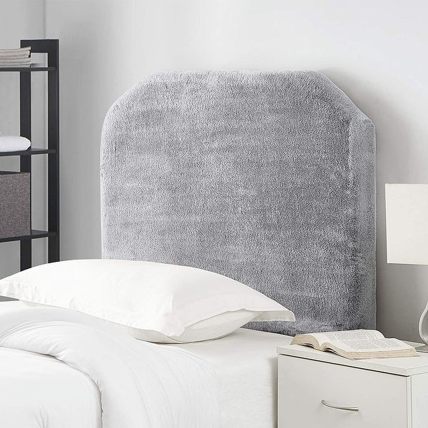 Mo' Fur College Headboard - Softest Plush Frosted Gray. Opens flyout.