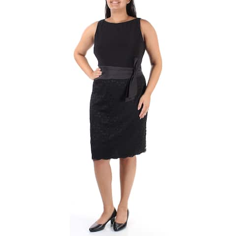 ba4b59af4065a AMERICAN LIVING Womens Black Sleeveless Boat Neck Above The Knee Evening  Dress Size: 2