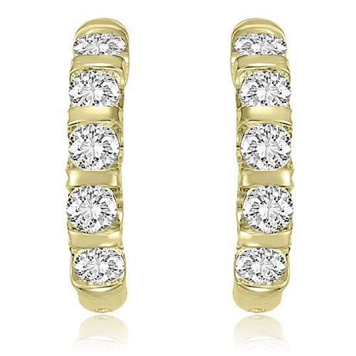 2.00 cttw. 14K Yellow Gold Round Cut Diamond Earrings