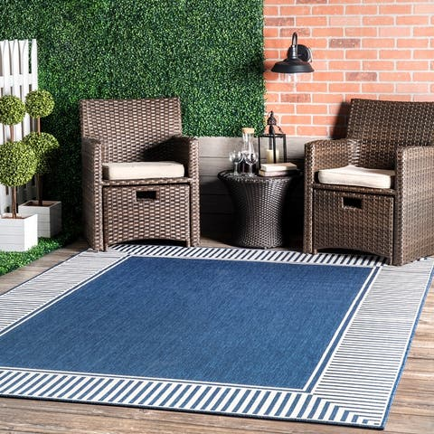 nuLOOM Asha Simple Border Indoor/Outdoor Area Rug
