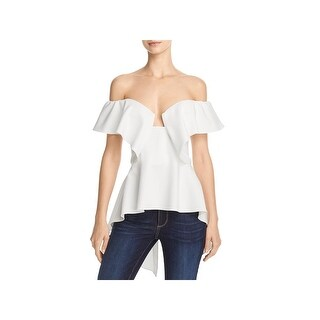 Do + Be Womens Blouse Ruffled Off the Shoulder