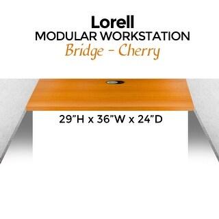 Lorell Modular Workstation Bridge, 29H x 36W x 24D, Cherry