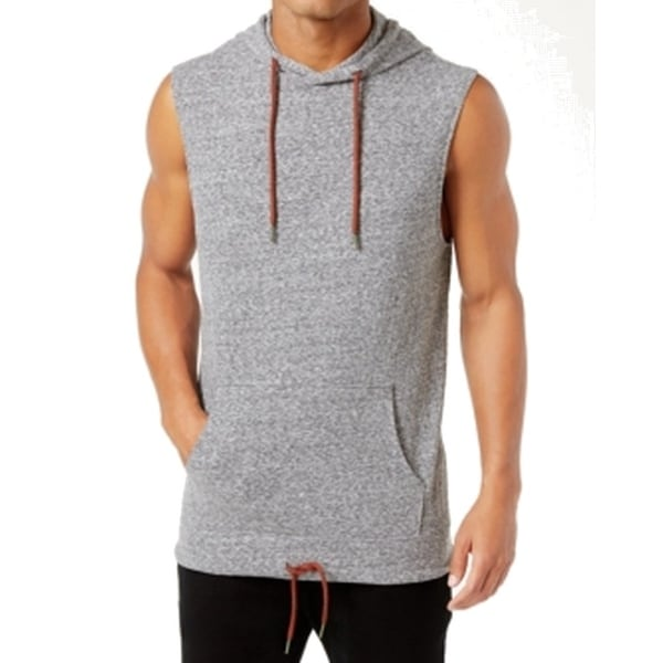 4ca8736f7e540 Shop American Rag NEW Gray Mens Size Large L Muscle Hooded Tank Top Shirt -  Free Shipping On Orders Over  45 - Overstock - 20971052