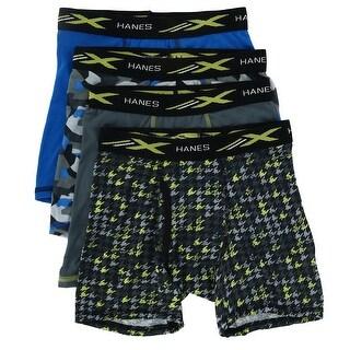 Hanes Boy's X Temp Boxer Brief Underwear (4 Pack)