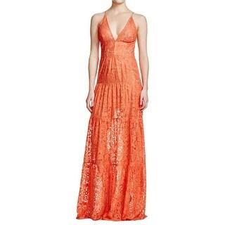 Dress The Population Womens Evening Dress Lace Metallic