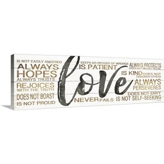 """Love"" Canvas Wall Art"