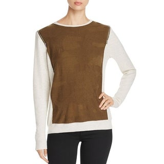 Love Scarlett Womens Pullover Top Thermal Colorblock