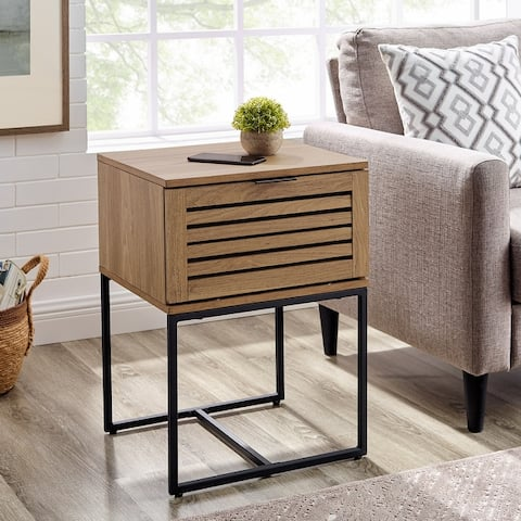 "Strick & Bolton Hilla 18"" Slat Door Side Table"