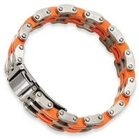 Chisel Brushed Stainless Steel and Rubber Bracelet - 8 Inches