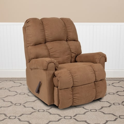 Microfiber Rocker Recliner - Living Room and Nursery Furniture