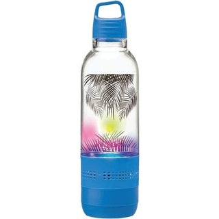 SYLVANIA(R) SP717-BLUE Holographic Light Water Bottle with Integrated Bluetooth(R) Speaker (Blue)