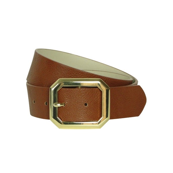 Style & Co. Women's Hexagon Buckle Pebble Belt