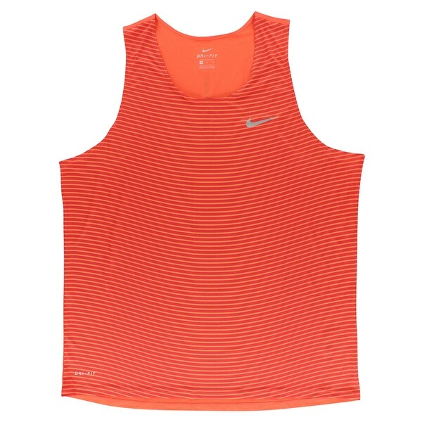 293ca8d9a051 Shop Nike Mens Dri Fit Racing Print Running Top Orange - Orange Red - XL -  Free Shipping On Orders Over  45 - Overstock - 22616028
