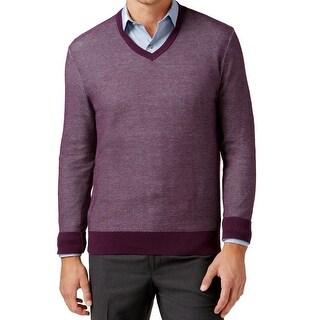 Michael Kors NEW Dark Purple Mens Size 2XL V-Neck Pullover Sweater