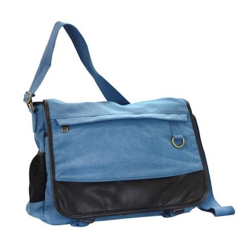 CTM® Men's Canvas Multiple Pocket Mail Bag - one size