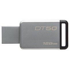 Kingston Dt50/128Gb 128Gb Datatraveler Dt50 Usb 3.0 Flash Drive (Black)