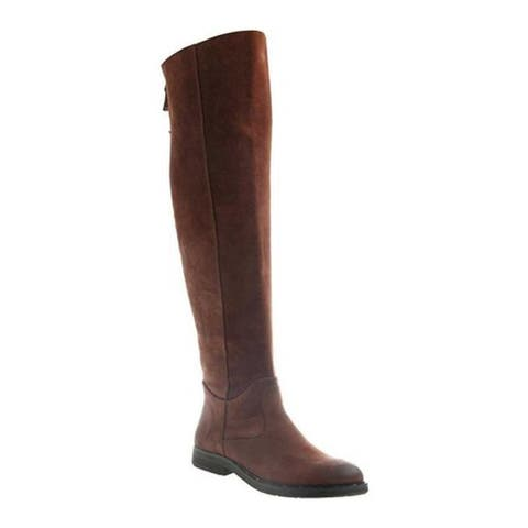 OTBT Women's Steerage Over The Knee Boot Medium Brown Suede Leather