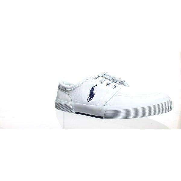 7d610cb791d1 Polo Ralph Lauren Mens Faxon Low-Sk-Vlc White Fashion Sneaker Size 11.5