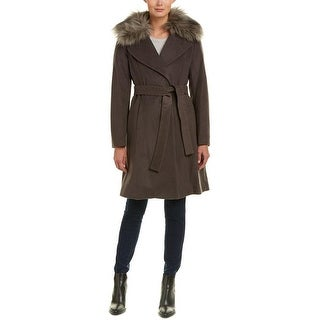 Elie Tahari Women's Flora Brown Wool Coat