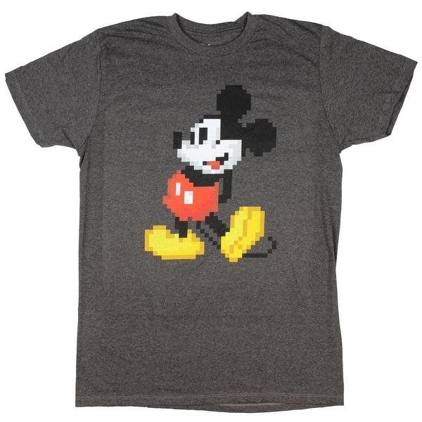 Disney Mickey Mouse Men's 8-Bit Pixel T-shirt