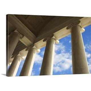 """Columns on Jefferson Memorial, Washington, DC"" Canvas Wall Art"