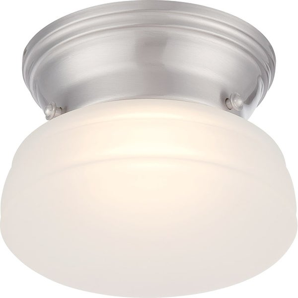 "Nuvo Lighting 62/612 Bogie Single Light 6"" Wide Integrated LED Flush Mount Ceiling Fixture - Brushed nickel"