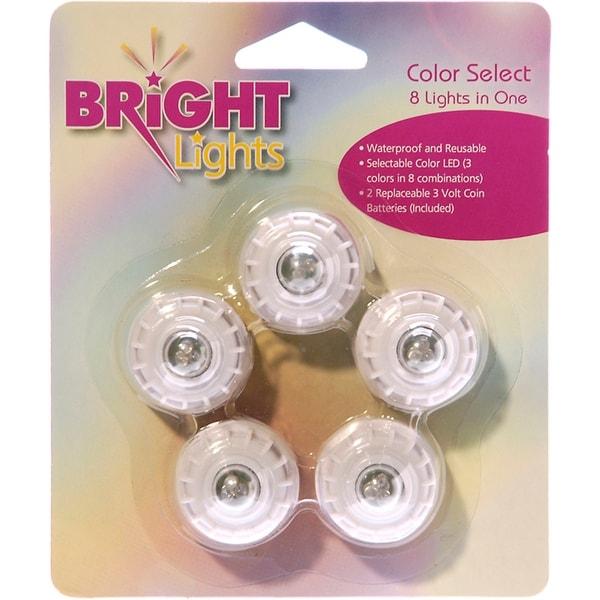 Bright Lights Submersible Tea Lights 5/Pkg-Multicolored