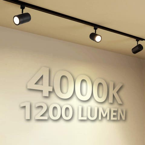 4 Pack Dimmable 17.5W LED Track Light Head, 4000K Cool White