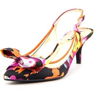 J. Renee Kendhl Women Pointed Toe Canvas Slingback Heel