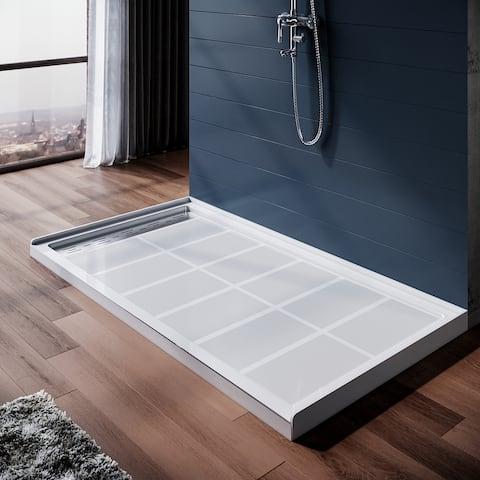 ELEGAN Shower Base Single Threshold Left Drain