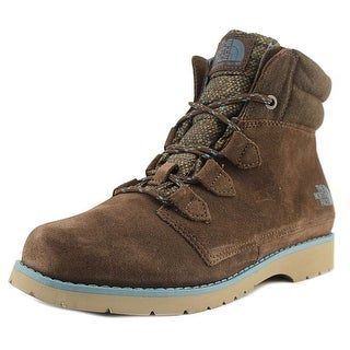 The North Face Ballard Roll-Down Women Round Toe Leather Brown Hiking Boot (Option: Hiking Boots)