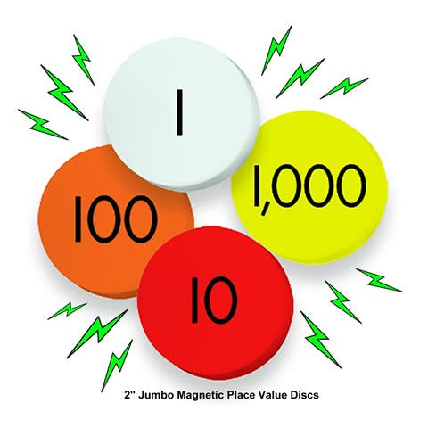 4-Value Jumbo Magnetic Place Value Demonstration Discs