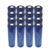 AA 2100mAh Rechargeable Precharged Ni-MH 1.2V Loopacell Batteries X 16