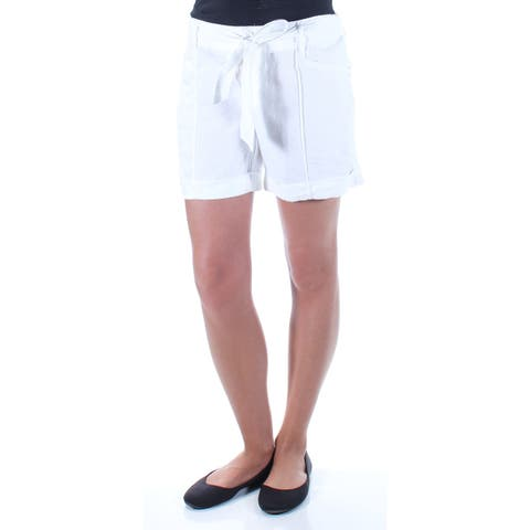 INC Womens White Tie Short Size: 2