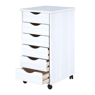 Adeptus USA 10018 8 x 11 in. 6 Drawer Roll Cart, White