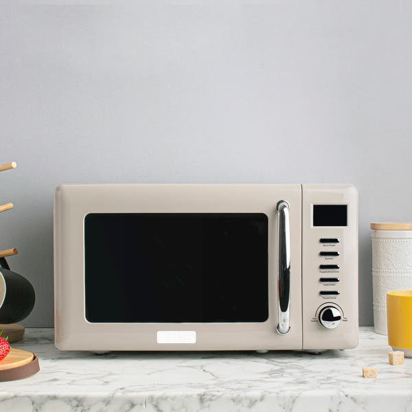 Shop Black Friday Deals On Haden Modern 700 Watt 7 Cubic Foot Microwave With Settings And Timer In Putty Beige Overstock 32053635