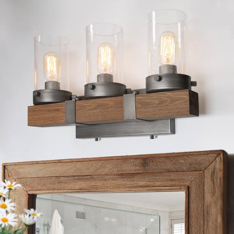 LNC Antique Metal 3-Light Vanity Light Bathroom Wall Sconces