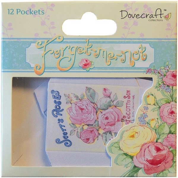 Dovecraft Forget-Me-Not Mini Pockets 12/Pkg-Seed Packets
