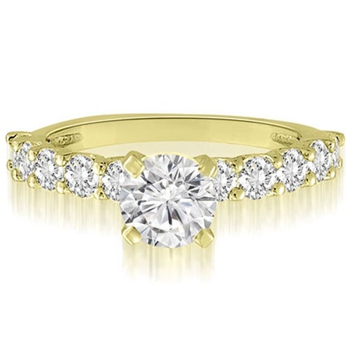 1.50 cttw. 14K Yellow Gold Round Cut Diamond Engagement Ring